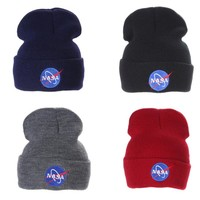 90s NASA Grunge Unisex Adult Vintage Style Beanies Hats 4 Colors Available