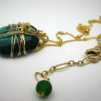 Emerald Green Swarovski CrystalGold Filled by SiennaGraceJewelry