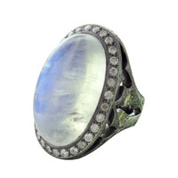 Loree Rodkin Moonstone Diamond Gold Ring