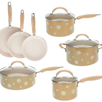 Prepology 11-Piece Polka Dot Aluminum Cookware Set - K37620 — QVC.com