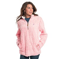 Heather Sherpa Pullover with Pockets
