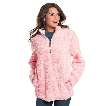 Heather Sherpa Pullover with Pockets in Himalayan Pink by The Southern Shirt Co. - FINAL SALE