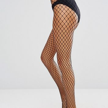 Gipsy Large Scale Fishnet Tights at asos.com