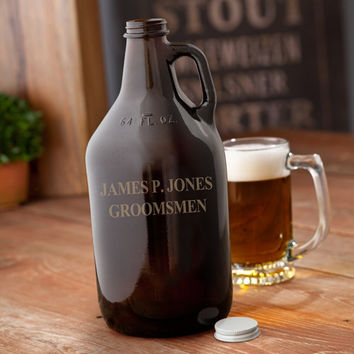 Amber Personalized Growler