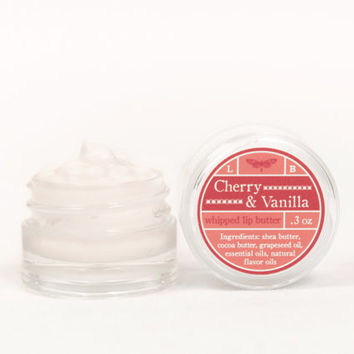 SALE - Whipped Lip Butter - Cherry & Vanilla - Natural Icing for Your Lips