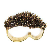 Spike Ring - 3 Finger Ring - Brass Knuckle Duster Spike - Brass Knuckles