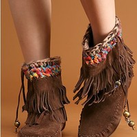 Free People Fringe Moccasin Boot