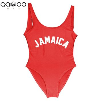 JAMAICA 2018 bathing suit women Swimming Suit Girl One Piece Swimsuit monokini Bodysuit swim suit fitness trikini Beachwear Suit
