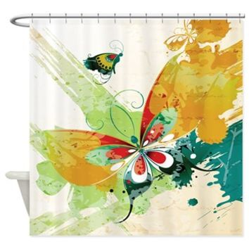 Pretty Butterfly On An Abstract Background Shower> Pretty Butterfly On An Abstract Background> Buy Gifts