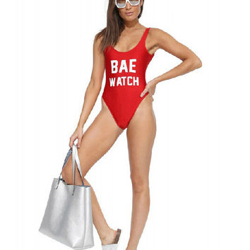 8b3f63405fe Womens Trendy Red Bae Watch One Piece from ShoeCoo