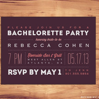 DIY Printable Bachelorette Party Invitation