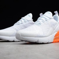Keevin Nike Air MAX 270 White/orange Running Shoes AH8050-102