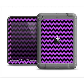 The Black & Purple Chevron Pattern Apple iPad Mini LifeProof Nuud Case Skin Set