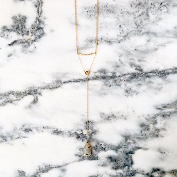 Double Layered Teardrop Necklace