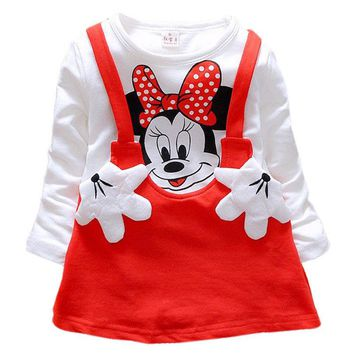 Toddler Baby Girls Autumn Clothes Cartoon Mouse Dresses vestido infantil Kids Princess Party Tutu Dress Outfits bebek elbise 21