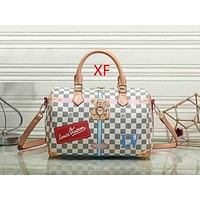 Louis Vuitton LV Fashion Leather Travel Crossbody Handbag Shoulder Bag Satchel