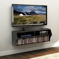 Black Altus Wall Mounted Audio/Video Console