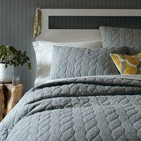 Braided Quilt + Shams - Plaster