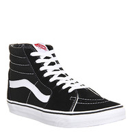 Vans Sk8 Hi Black White Canvas - Office Girl