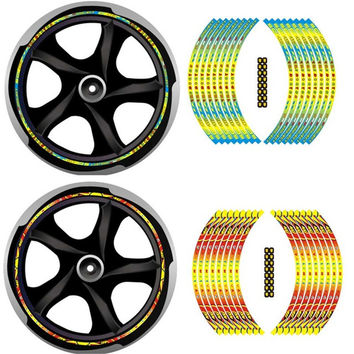 """16""""17""""18"""" Motorcycle Styling Wheel Hub Rim Strip Decal Valentino Rossi 46 VR46 TheDoctor Sticker For Honda For Yamaha For Suzuki"""