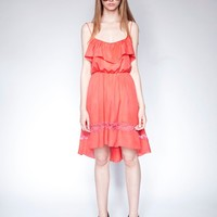Coral tier dress - Shop the latest Fashion Trends