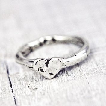 baby heart stacking ring