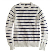 Cotton crewneck sweater in stripe - cotton - Men's sweaters - J.Crew