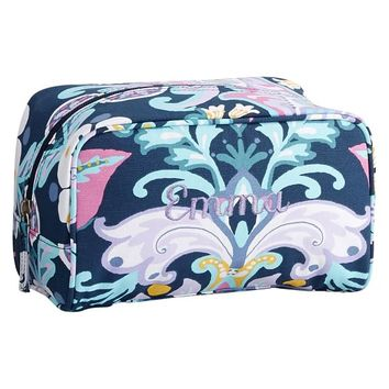 Sleepover Navy Jewel Damask Medium Toiletry Case