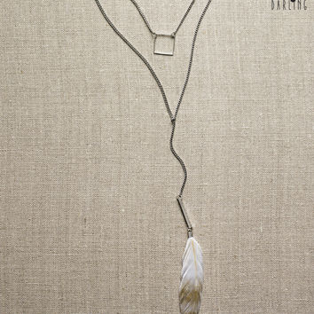 Tokyo Darling Feather & Charms Short-Strand Necklace