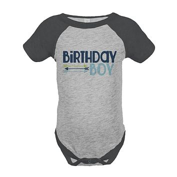 Custom Party Shop Boy's First Birthday Arrows Vintage Baseball Tee Onepiece