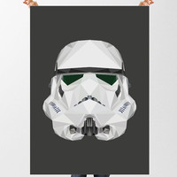 Stormtrooper Print, Star Wars Poster, Low Poly Art, INSTANT DOWNLOAD, Printable Wall Art, Christmas Gift, Movie Poster, Geometric Art