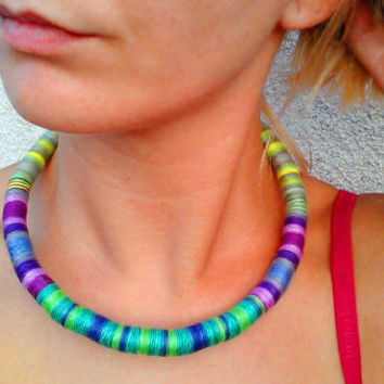 Spring, Choker, Rope Necklace, African Choker, African Necklace, Choker necklace, African Jewellery, African Jewelry, Choker, Gift For Her