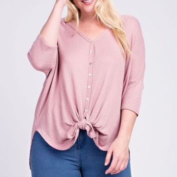 Sissy Button-Up Knot Top | Colors | Plus