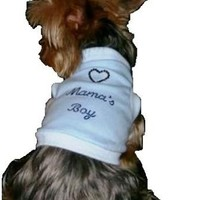 Dog clothes Shirt New for mothers day MAMAS BOY sleeveless tank