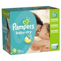Pampers Baby Dry Size 4 Economy Pack Plus, 180 Count:Amazon:Health & Personal Care