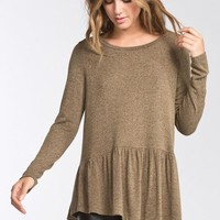 Flouncy Fall Top - Olive