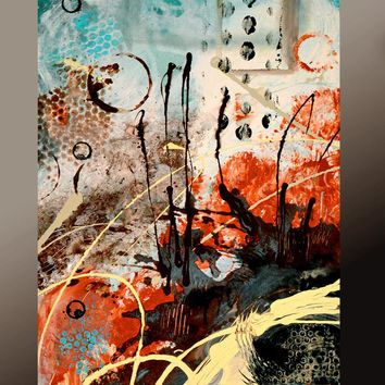 11x14 Abstract Art Print Contemporary Modern Giclee by Destiny Womack - dWo - Abstract Thoughts