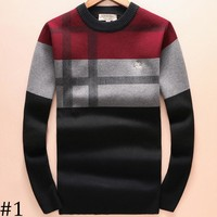 Burberry 2018 autumn and winter men's new knitted round neck sweater F-A00FS-GJ #1