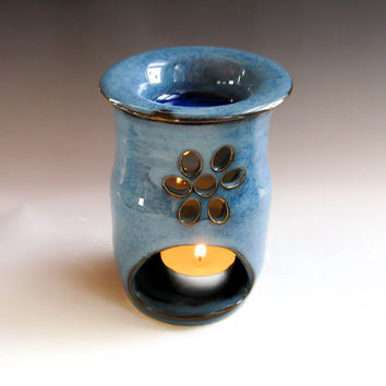Essential Oil Diffuser, Oil Warmer in Denim Blue - Aromatherapy - handmade ceramics