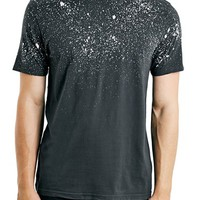 Men's Topman Classic Fit Splatter Yoke T-Shirt,