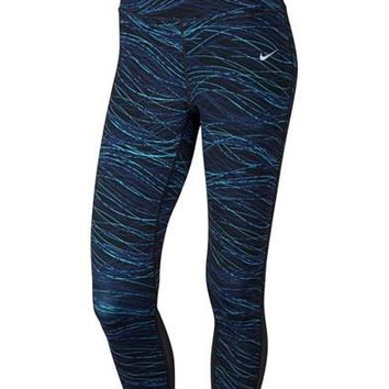 Nike Power Epic Lux Printed Cropped Running Leggings