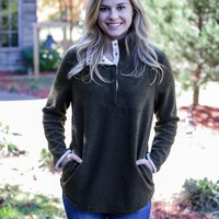 Snappy Pullover, Olive