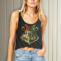 Harry Potter Hogwarsts Logo Women Crop Tank - Lzi Tanktop For Men  / Custom - Tanktop / Men Tanktop