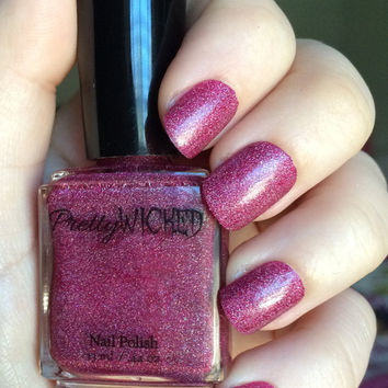 Berry Pink Nail Polish with Silver Sparkles, Pink Nail Polish, Red Nail Polish, Purple Nail Polish, Glitter Nail Polish
