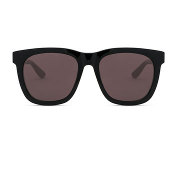 Saint Laurent Oversized Rectangle Sunglasses in Black & Grey | FWRD