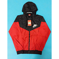 "Fashion ""NIKE"" Hooded Zipper Cardigan Sweatshirt Jacket Coat Windbreaker Sportswear [2974244237]"