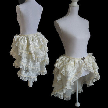 Bustle skirt Segura burlesque victorian by SomniaRomantica on Etsy