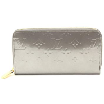 Auth LOUIS VUITTON Monogram Vernis Zippy Wallet Silver M90486 90047802