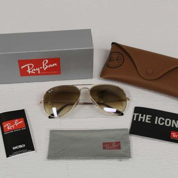 Ray Ban Men's Sunglasses Aviator RB3025 001/51 Gold/Light Brown