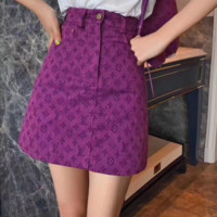 LV Louis Vuitton Women Embroidery Skirt